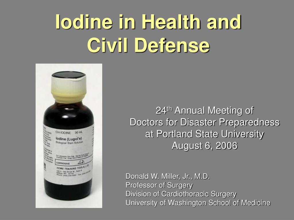 iodine in health and civil defense l.