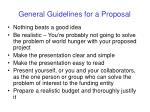 general guidelines for a proposal