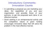introductory comments innovation counts