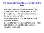 the corporate marketplace culture the arts