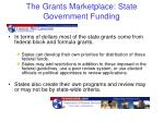 the grants marketplace state government funding