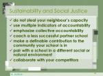 sustainability and social justice
