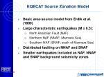 eqecat source zonation model