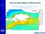 seismic hazard map for marmara sea