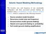 seismic hazard modeling methodology