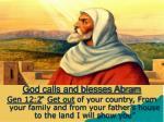 god calls and blesses abram30