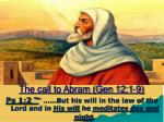 the call to abram gen 12 1 9