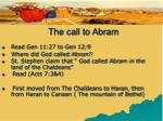 the call to abram