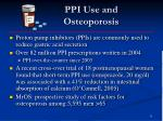 ppi use and osteoporosis