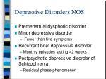 depressive disorders nos