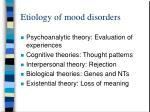etiology of mood disorders