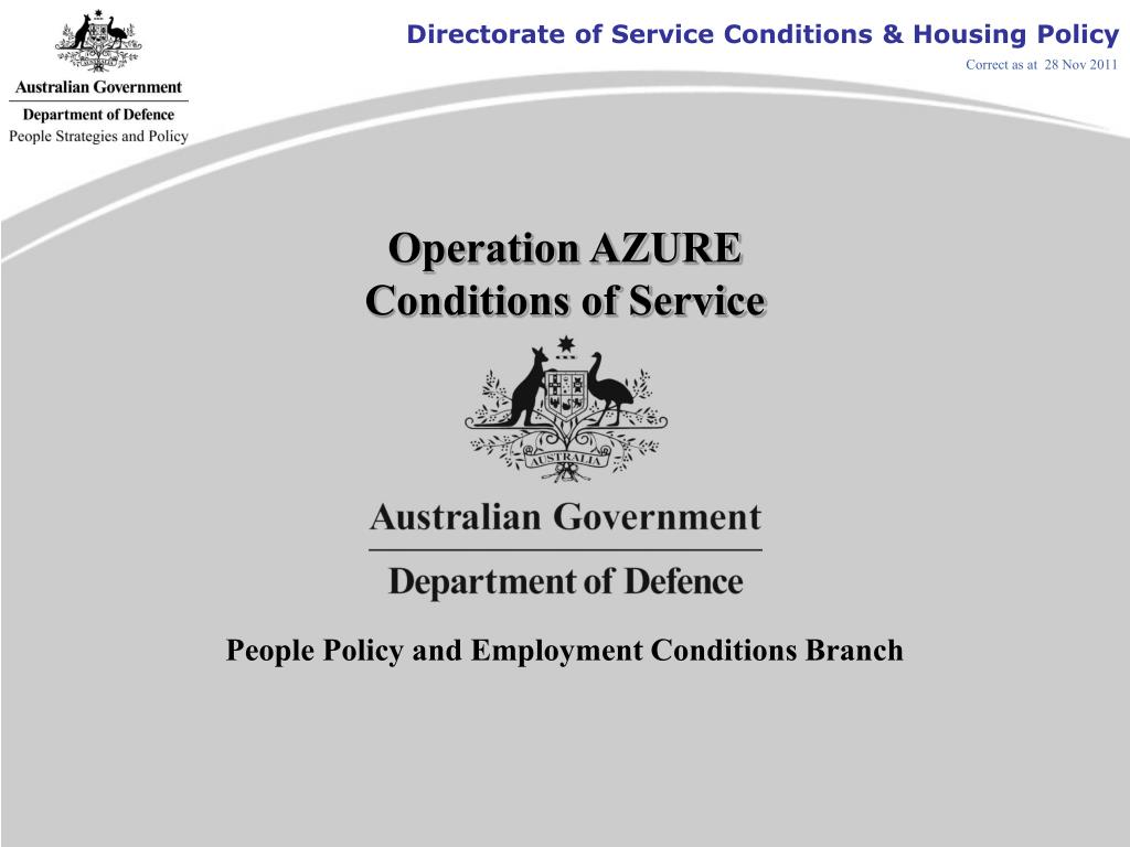 operation azure conditions of service l.