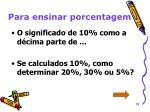 para ensinar porcentagem