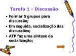 tarefa 1 discuss o