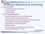 financial reporting invoicing