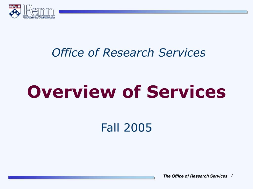 overview of services l.