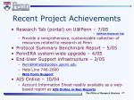 recent project achievements
