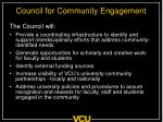 council for community engagement