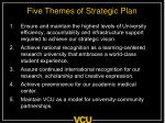 five themes of strategic plan