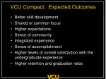 vcu compact expected outcomes