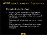 vcu compact integrated experiences