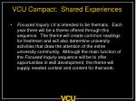 vcu compact shared experiences