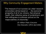 why community engagement matters