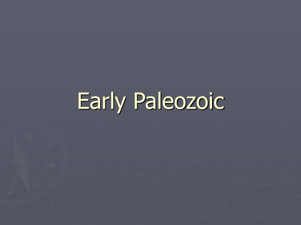 early paleozoic l.