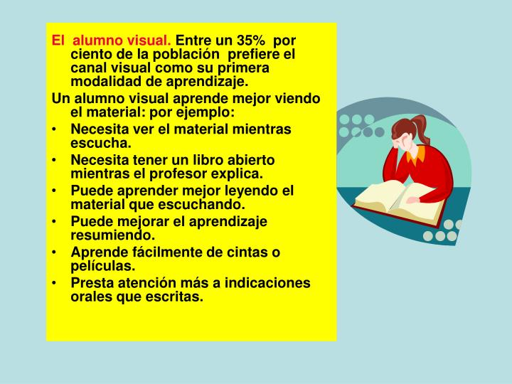 El  alumno visual.