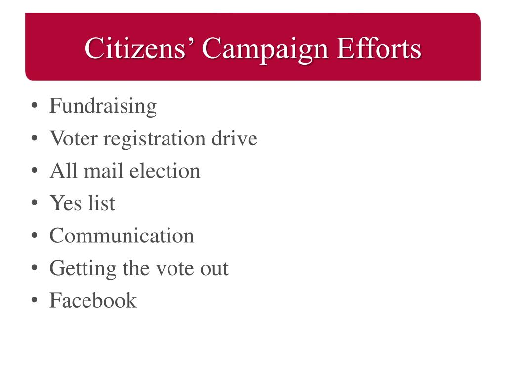 Citizens' Campaign Efforts