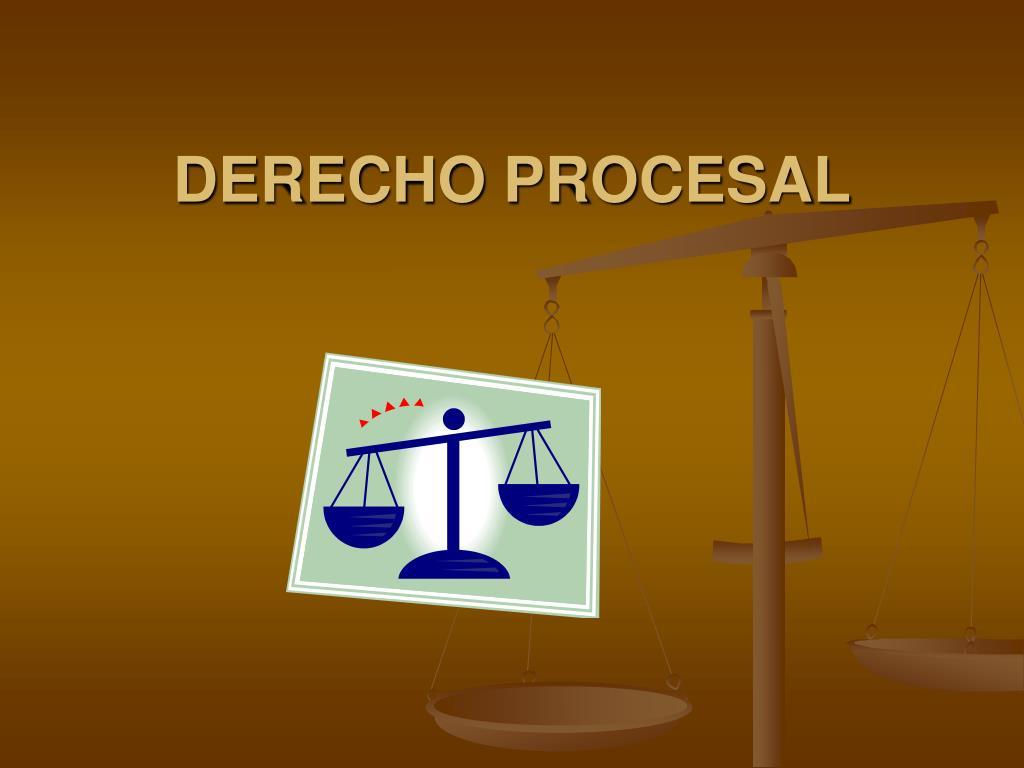 derecho procesal l.