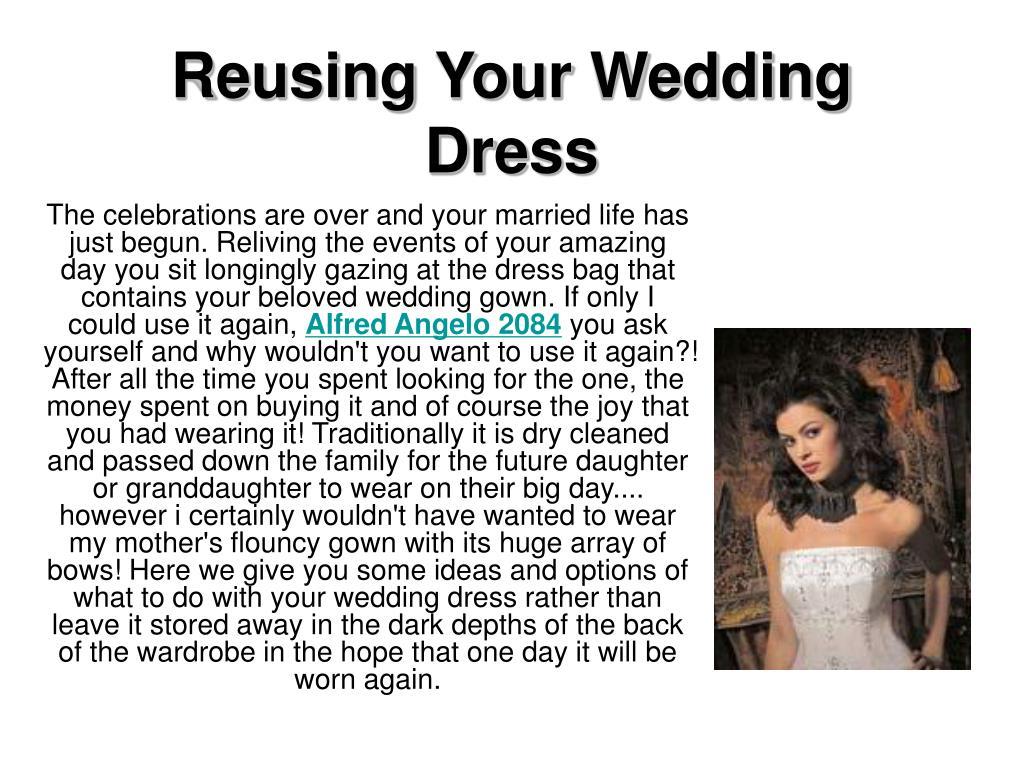 reusing your wedding dress l.