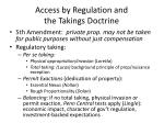 access by regulation and the takings doctrine