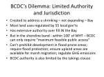bcdc s dilemma limited authority and jurisdiction