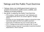 takings and the public trust doctrine