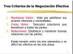 tres criterios de la negociaci n efectiva