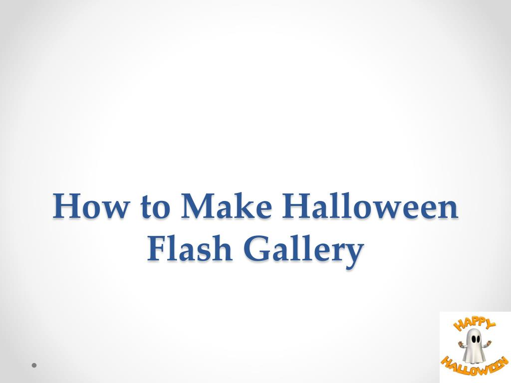how to make halloween flash gallery l.