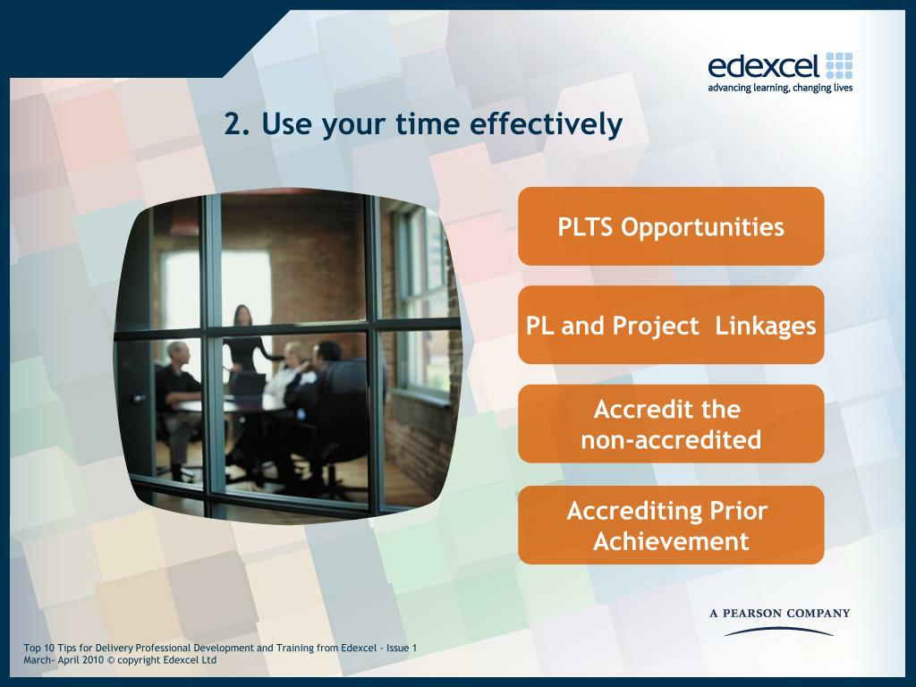 2. Use your time effectively