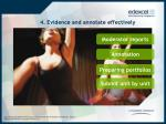 4 evidence and annotate effectively
