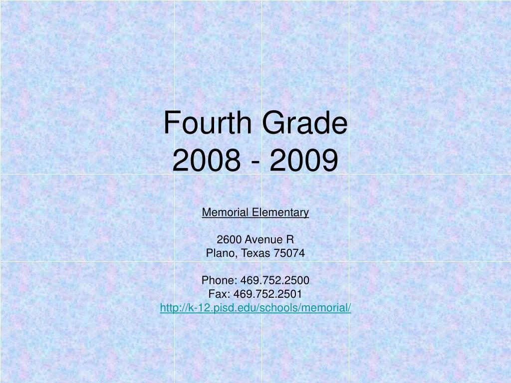 fourth grade 2008 2009 l.