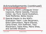 acknowledgements continued