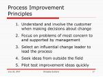 process improvement principles