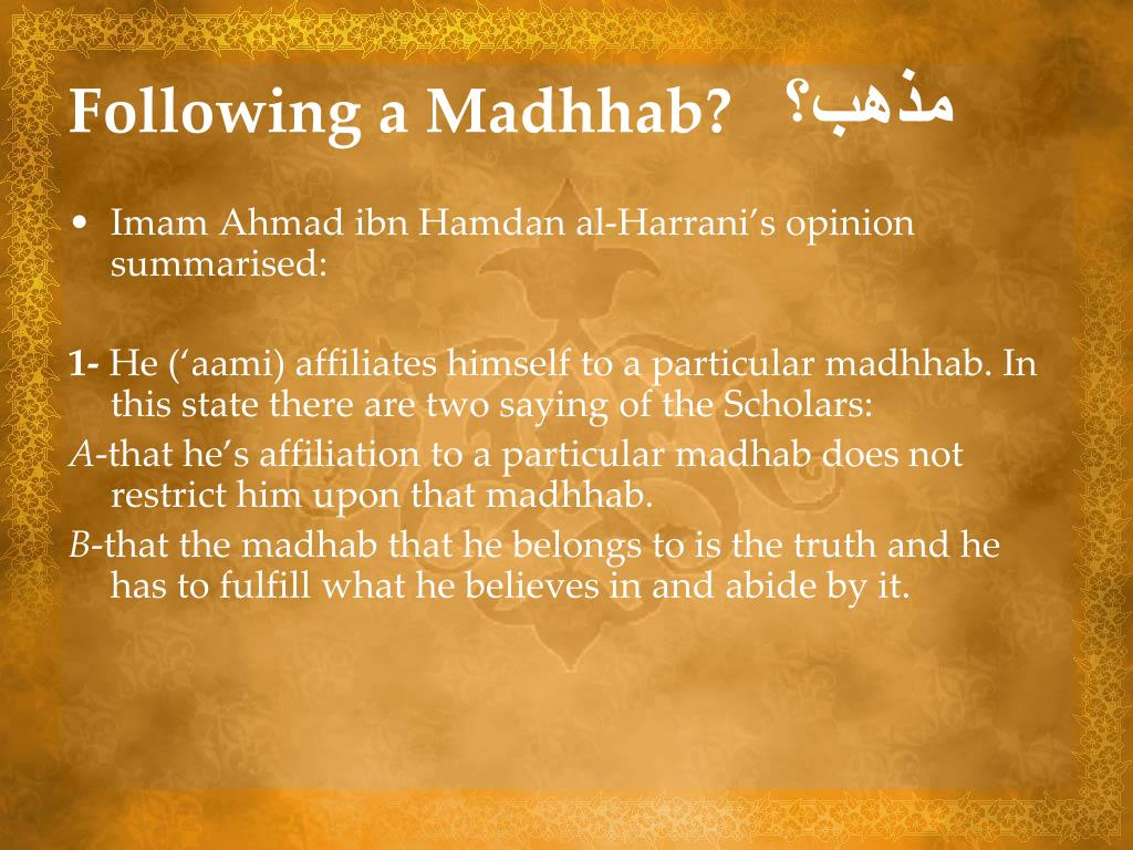 Following a Madhhab?