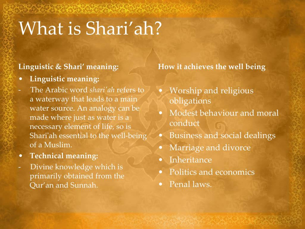 What is Shari'ah?