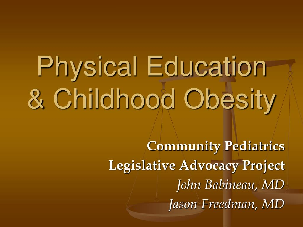 physical education childhood obesity l.