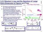 3 2 2 newton s law and the question of large extra dimension of space and time