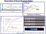 observation of bound quantum states