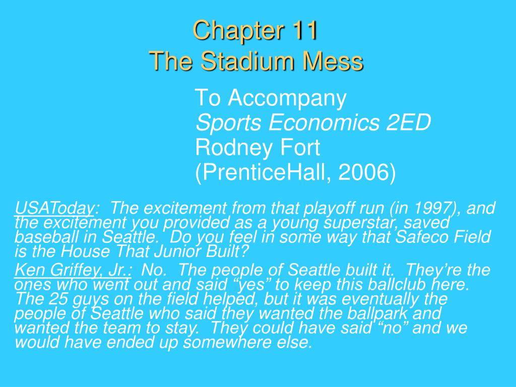 chapter 11 the stadium mess l.