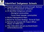 identified indigenous schools