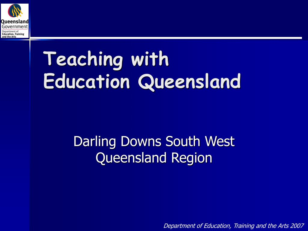 teaching with education queensland l.
